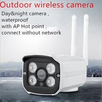 sensores cctv venda por atacado-Ao ar livre Wi-fi Câmera de Segurança CCTV 1080 P / 960 P / 720 P Sem Fio IP Cam Ao Ar Livre IP66 Casa Vigilância Sensor de Movimento de Vídeo Android iOS