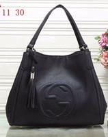 häkelhandtaschenmuster großhandel-Frauen Mode Tasche Berühmte Marke Designer Umhängetasche Quaste SOHO Taschen Damen Quaste Litschi Profil Frauen Umhängetasche 308364