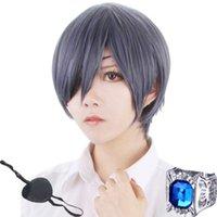ingrosso parrucca blu mix-Parrucca Cosplay Black Butler Kuroshitsuji Ciel Phantomhive Grey Blue Mix