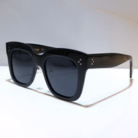 Wholesale glass women for sale - Group buy 41444 Women Designer Sunglasses Goggle Wrap Designer UV protection Unisex Model Big square Frame mask glass Top Quality free Come With Case