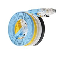 utp rj45 al por mayor-cable UTP cable plano GB RJ45 seis interfaz 100m cat6 cable plano 0144