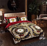 Wholesale new design bedding set resale online - Black V Goddess Bedding Sets Suit New Noble Design Golden Print Duvet Cover Set Flower Complex Patterns Bedding Suit Home Textiles