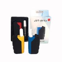 ecig mini mods kit großhandel-Ecig Mini LXT-001 Kit Box Mod 650mAh VV Vape-Batterie mit 1,0 ml 510 Vape-Wagen USB-Ladegerät Lanyard dicke Ölpatronen Tank