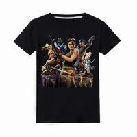 teen jungen kleidung großhandel-Kinder Fornite Boy T-shirt Kleidung Sommer Kinder 100% Baumwolle Kurzarm Tops Tees Spiel Cartoon Fortnight Teen 6-14y Kleidung J190427