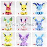 pikachu video toptan satış-10 Modelleri Farklı Eevee Aile Pikachu Eevee Doldurulmuş Hayvanlar Peluş Oyuncaklar 20 CM Eevee 9 Modelleri Pokemons En Iyi Oyuncaklar Çocuklar hediyeler