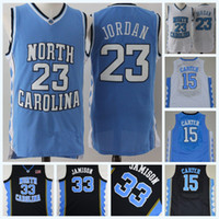 c6155f621 Stitched Mens North Carolina Tar Heels 23 Michael Jor dan 15 Vince Carter NCAA  College Basketball Jersey Double Stitched Name and Number on sale