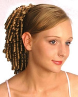 Wholesale peruvian spiral hair for sale - Group buy Small spiral curls curly hair ponytail hairpiece drawstring human hair clip in g ponytail hair extension