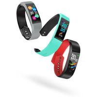 gps tracker kids wholesale achat en gros de-F6 3D UI fréquence cardiaque Smart Band Fitness Bracelet Tension artérielle Moniteur d'oxygène sanguin IP68 Vie Imperméable-Gros