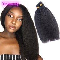 человеческие волосы yaki утки оптовых-Бразильские волосы девственницы Kinky Straight 3 пучки человеческих волос Kinky Straight Yaki Оптовая двойной утки натуральный цвет