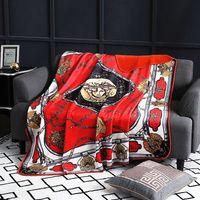 manta de marca al por mayor-Royal Fancy Brand Medusa Designer Velvet Blanket Creative H Pattern Ropa de cama Sets Sofá Throw Fleece Mantas Hogar de lujo Interiores de bodas