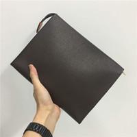 man debriyaj tasarımı toptan satış-Tasarımcı debriyaj çanta çanta tasarımcısı lüks çanta erkekler uzun cüzdan erkek tasarım çanta tasarımcı debriyaj çanta kart tutucu çanta M47542 Z011