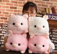 doldurulmuş aşk bebekleri toptan satış-Kawaii Aşk Domuz Peluş Yastık Dolması Bebek Sevimli Hayvan Yastık El Isıtıcı Domuz Oyuncak 50 cm Çocuk Doğum Günü Hediyesi