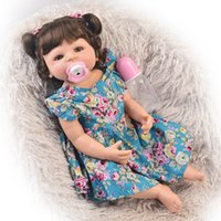Wholesale alive dolls for sale - Group buy Full Body Silicone Reborn Baby Girl Doll Inch Fashion Reborn Alive Girl Doll Realistic Princess Baby Doll for Kids Xmas Gifts
