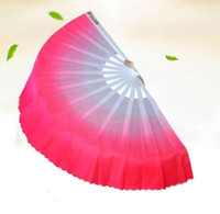 Wholesale chinese fan dance props for sale - Group buy New Chinese silk dance fan Handmade fans Belly Dancing props colors available Drop shipping Hot sale