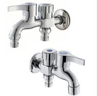 ingrosso un tocco-G1 / 2 Brass Double Faucet Multi-funzione One in due due rubinetto Rubinetto lavatrice Mop Pool Tap