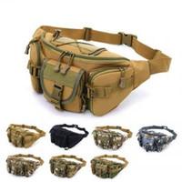 çok fonksiyonlu dış kamp çantası toptan satış-Açık waistpacks İşlevli Takım Tutucu EDC Kılıfı Camo Çanta Naylon Programı Taktik Kamp Yürüyüş Çantası Molle LJJV137