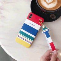 шлифовальный чехол для iphone оптовых-Цветная полоса Чемпиона с жидким песком iMD чехол для телефона, дизайнерский чехол для телефона для Iphone X 8 XS iphone xs max чехол