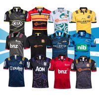 ordem de rugby venda por atacado-Novo 2019 2020 Chiefs Super Rugby Jersey new Zealand homem adulto super Chiefs Blues Furacões Crusaders Highlanders 2019 Camisas de Rugby Jerseys