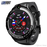 Wholesale smartwatch 5mp camera for sale – best LOKMAT G mp mp Dual Camera Smart Watch Men Android MTK6739 GB GB AMOLED Screen GPS WIFI Smartwatch For ios Android