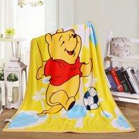 cama de chocolate venda por atacado-Promoção! Bebê dos desenhos animados Crianças Cobertor Cobertor De Lã De Coral Na Cama Macia Do Bebê Do Bebê conjunto de cama Dos Desenhos Animados Quilt