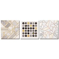 pinturas geométricas al por mayor-DYC 10040 3 UNIDS Boreal Europa Gráfico Geométrico Estampado de Arte Listo para Colgar Pinturas