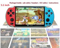 Wholesale video games plus resale online - NEW X7 PLUS Handheld Game Player Inch Large Screen Portable Game Console MP4 Player with Camera TV Out TF Video for GBA NES Game GB