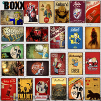 Wholesale games decor resale online - Fallout Games Tin Signs Metal Plate Wall For Bar Shop Art Retro Home Decor Metal Poster X20CM