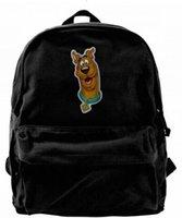 ingrosso zaino nero tela per gli uomini-Scooby Doo Logo Fashion Canvas designer zaino per uomo donna Teens College Travel Daypack Borsa nera per il tempo libero