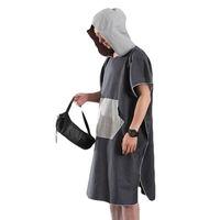 manto de roupão de banho venda por atacado-2019 novas mulheres homem praia mudando robe bath towel quick-dry esportes ao ar livre adulto com capuz manto poncho bathrobe towel dropship