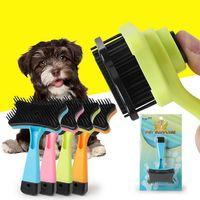 ingrosso capelli spazzolatura accessori-Pettine per animali domestici Pettine per gatti Spazzola per plastica per gatti Cucciolo per cani Pettine per cani accessori per animali accessori per animali #TX D19011506