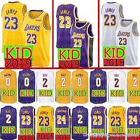 540dc6ecf 2019 KID Lakers 23 LeBron James 24 Kobe   Bryant Jersey New Youth 2 Lonzo   Ball  0 Kyle   Kuzma Basketball Jerseys