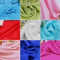tejido de lino teñido de hilo al por mayor-Tela de raso Vestido de verano telas imitación seda gasa forro vestido de novia telas de sombreado