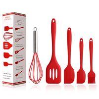 mutfak gereçleri toptan satış-Kaplar Silikon Mutfak Bakeware Dayanıklı Pişirme Araçları Seti Kürek Kazıyıcı Yumurta Beater Fırçası Yaratıcı Mutfak MMA3096 Pişirme 5 adet / lot