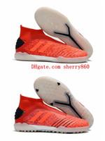zapatos rojos de fútbol para interiores al por mayor-2019 nueva llegada botines de fútbol Predator 19+ IN IC zapatos de fútbol para interiores Predator 19+ TF botas de fútbol para hombre botas de futbol rojo