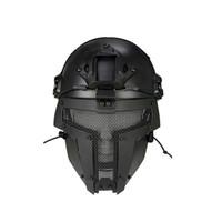 mascarillas militares al por mayor-Nuevo casco de malla para deportes al aire libre Casco de moto Mascarilla completa Fanático del ejército