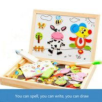 Wholesale 12 zodiac puzzle resale online - Kids Popular Wooden Toys Early Educational Children Jigsaw Baby Toys Childhood Chinese Zodiac Magnetic Happy Color Puzzle Game