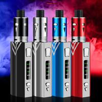 Wholesale shisha mod box for sale - Group buy 100W Vape Kit ml Vaporizer Thread Vaporizer mah build in Battery box mod Electronic Cigarette Shisha vaper Pen