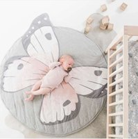 Wholesale hottest baby play mat resale online - Hot INS Baby Crawling Mat Soft Style Animals Print Mats Crawling Blanket Play Game Indoor Outdoor Baby Room Decoration Round Game Carpet