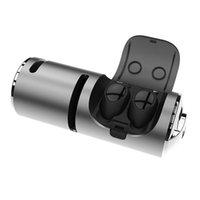 hoparlörlü mobil iphone toptan satış-3 in 1 Dokunmatik Kablosuz Bluetooth Kulaklık / Hoparlör / Mobil Güç, w / Mic ve 1200 mAh Şarj Kılıf ile TWS Surround Ses Kulaklık