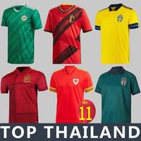 camisa do futebol do jogo venda por atacado-jogo europeu equipa nacional de 2020 uniformes Itália Suécia Bélgica Futebol mangas 19/20 Homens futebol camisas curtas Espanha Islândia Futebol