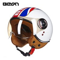 Wholesale helmet approved for sale - Group buy BEON OFFICIAL STORE Motorcycle Vintage scooter chrono helmet open face Retro helmet E bike ECE approved Italy flag moto casco