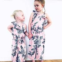 75e6b406733 Baby Girls Floral Romper 2019 summer Oblique Shoulder Bodysuit Strapless  Jumpsuit Flower print Baby Climbing Clothing C6170