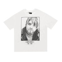 do vintage do grupo de rock t-shirt venda por atacado-20ss Hip Hop 6 Fear Of God Kurt Cobain Rock Band Foto Vintage Tee skate camiseta Nevoeiro Homens Mulheres de manga curta T Camisa Casual