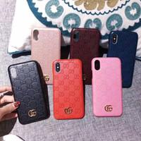 iphone hard kapaklı telefonlar toptan satış-Lüks Kılıf iphone Xs için max marka kabartmalı mektup GG telefon kılıfı iphone X Xr 7 7 artı 8 8 artı 6 6 artı sert arka kapak