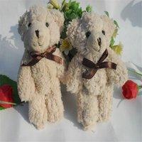 Wholesale teddy bear stuffed animals resale online - Cute Plush Dolls Teddy Bear Keychains Stuffed Animals Wedding Celebration Wear Resistant cm hy F1
