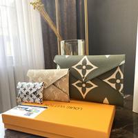 debriyaj kutuları toptan satış-3 parça kombinasyonu Tasarımcı çanta kaliteli Tasarımcı çanta kadın debriyaj çanta cüzdan Çanta Ile KUTUSU L190421-5