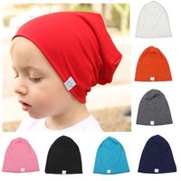 Wholesale black baby girl hats caps for sale - Group buy Toddler Newborn Kids Baby Boy Girl Cotton Soft Warm Santa Solid Hat Beanie Cap Causal Hat