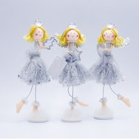 Wholesale crown ornaments christmas for sale - Group buy Christmas Doll Angel With Clear Crown Desktop Decorative Figurine Ornaments Holiday Gift Home Festival Decorations