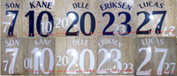 2018-2019 KANE ERIKSEN SON LUCAS DELE nameset name numbering soccer patch soccer badge