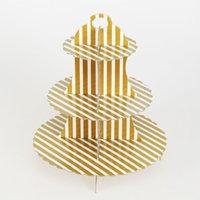 cupcakes, aniversário, bolo, tier venda por atacado-Racks de sobremesa 3 Camada Cupcake Stand Festa de Aniversário Suprimentos Lanche Bolo Cremalheira Decoração Do Partido